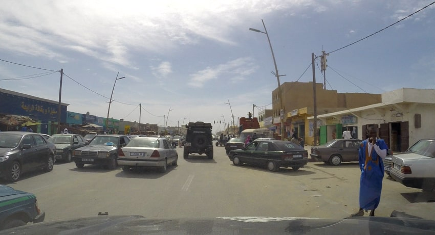 Tough traffic in Mauritania