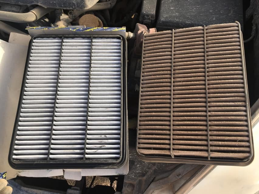 Air filter needed to be replaced