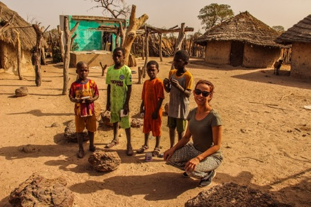 Kids in Senegal with Evelin - Overlanding