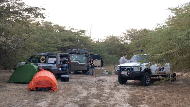 Campsite with Overland Rigs