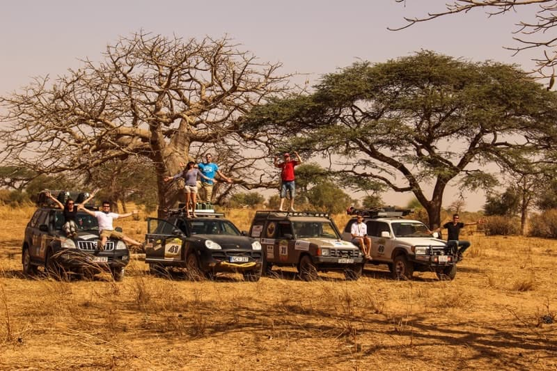 Overland rigs in Senegal Africa