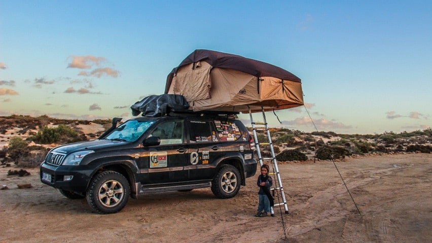 overlanding in africa with a rooftop tent