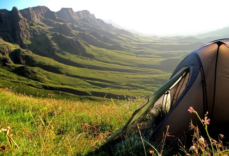 Ground tent in Lesotho