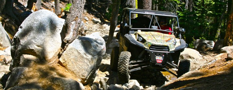 Rubicon Trail Map and Camping