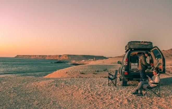 Overlanding in Africa near Dakhla