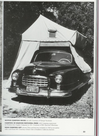 Rooftop tent from the 50s
