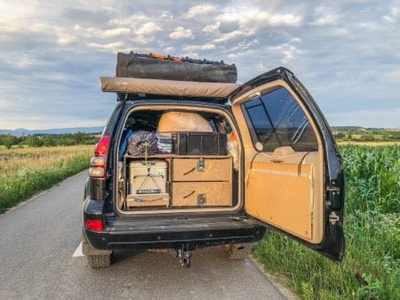 drawer packing system overlanding gx470