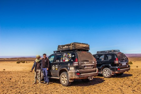 Land cruiser overlanders in Morocco