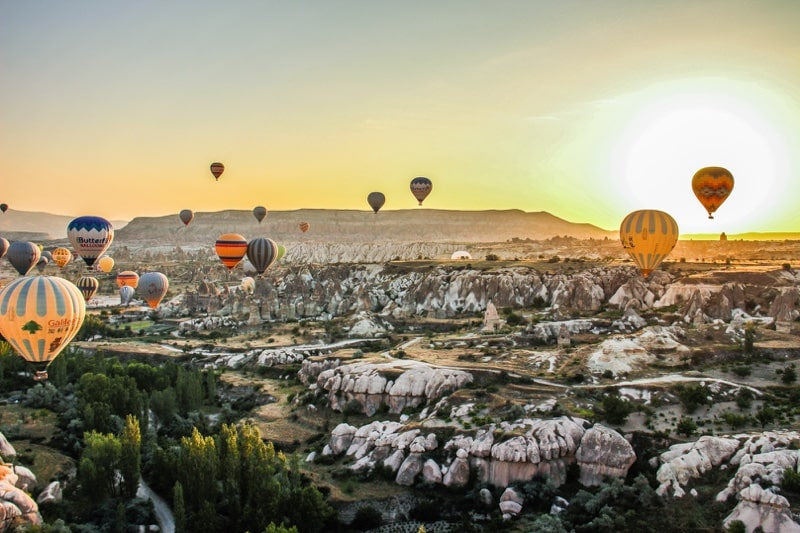 sunrise in cappadocia turkey