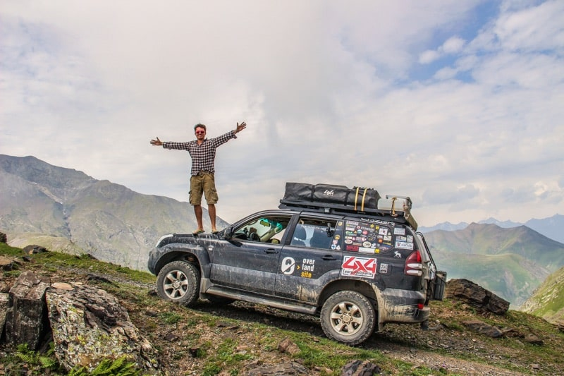 top of moutain an overlander