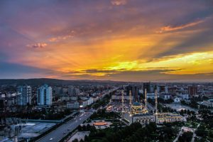 grozny at sunset chechnya