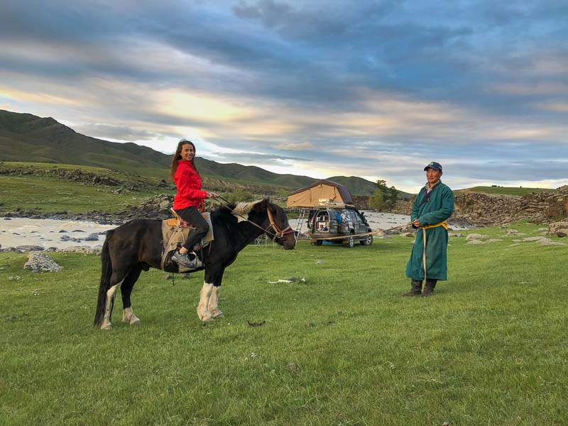meeting locals in mongolia
