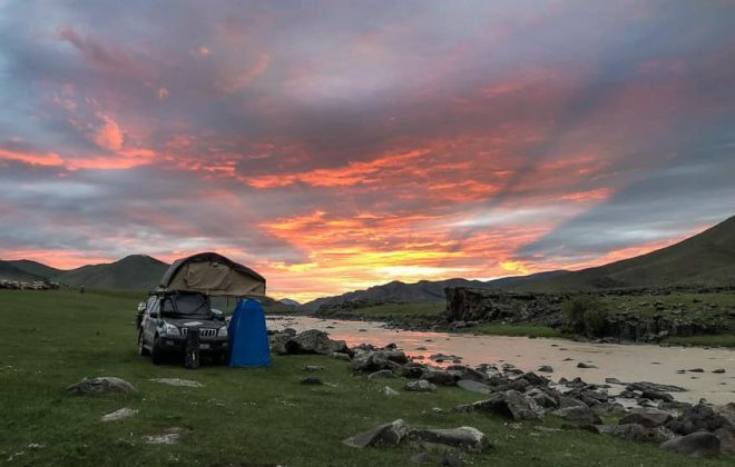 overlanders camp in mongolia
