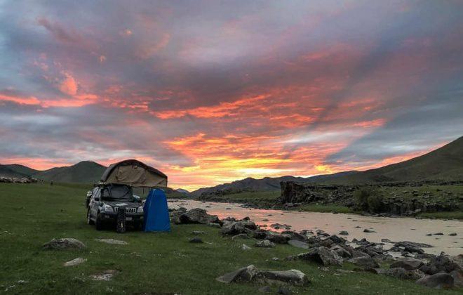 overlanders camp in mongolia