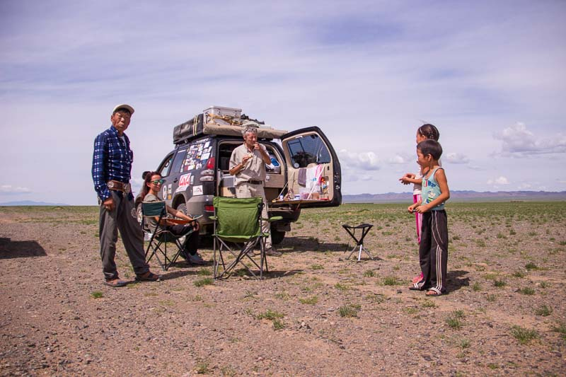 nomads with overlanders