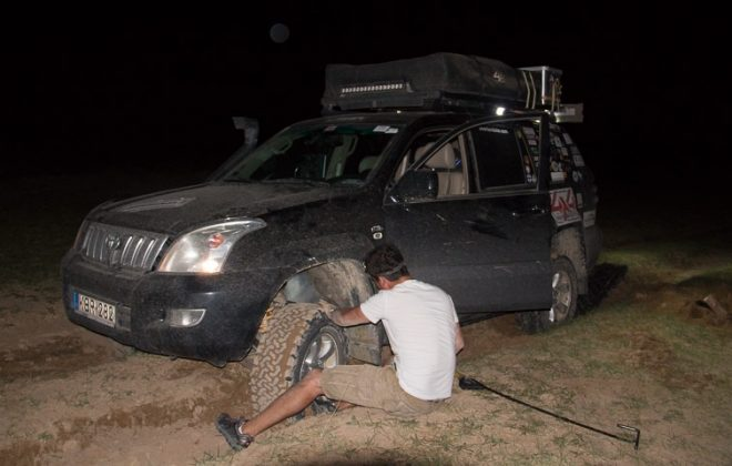 bogged in mongolia