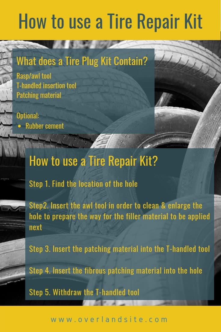 how to use a tire repair kit