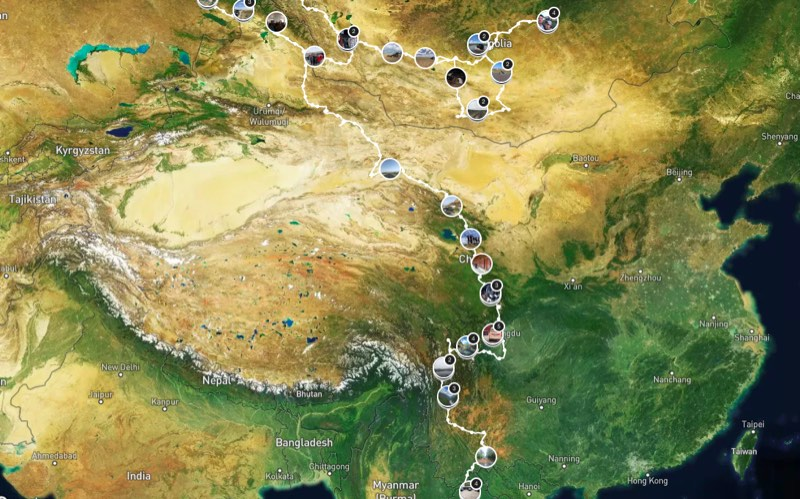 overlanding itinerary china