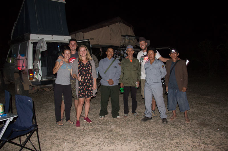 laos overlanders with miliatary