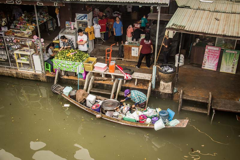 overlanders in floating market