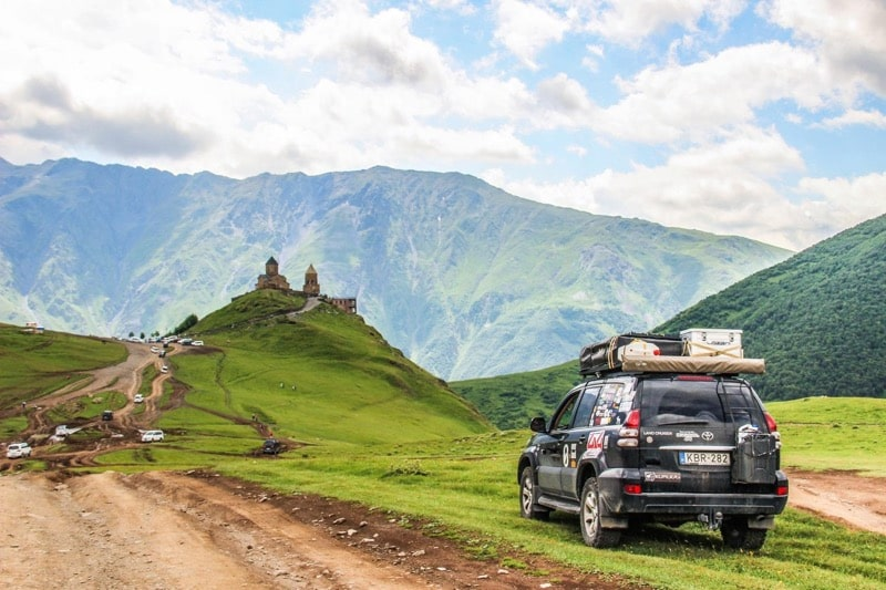 overlanding in georga - eastern europe