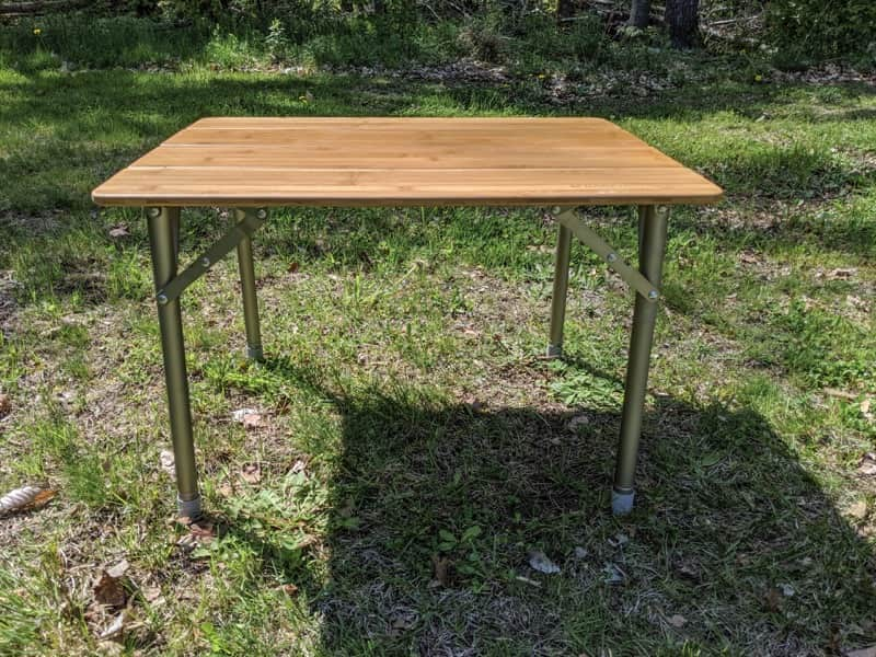 adjustable camping table review