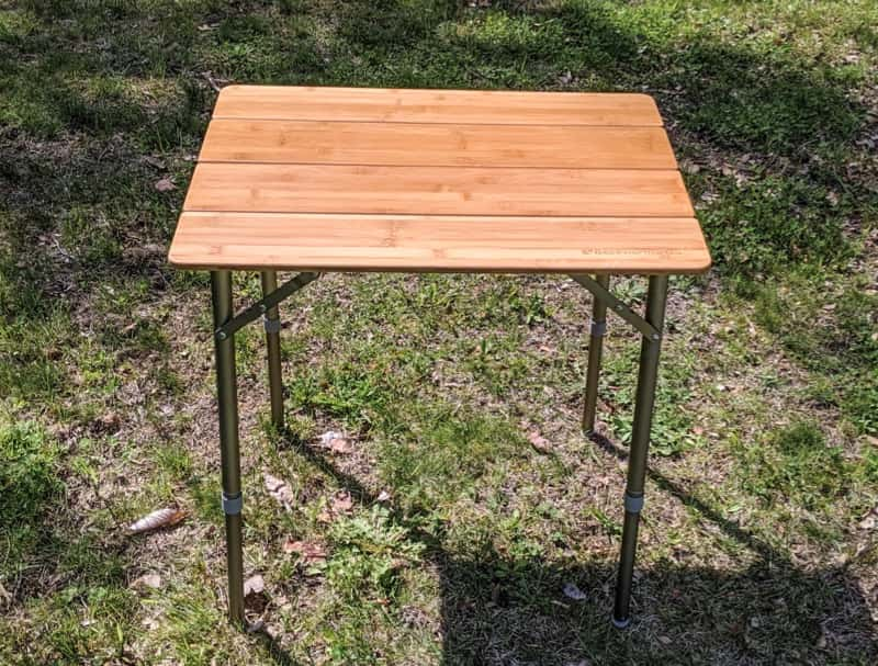 camping table with adjustable height