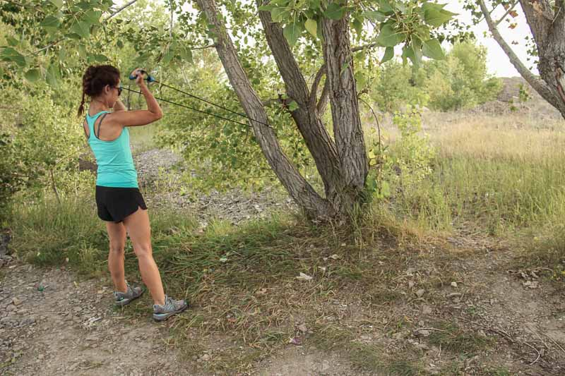 how to exercise while camping