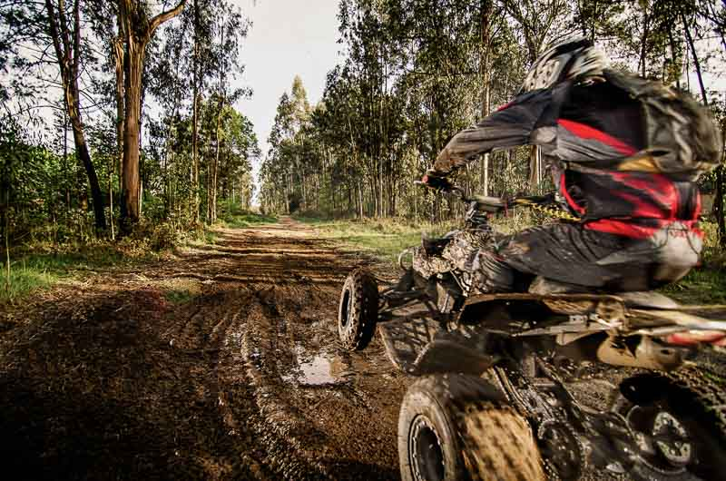 having fun with atv equipped with best winch