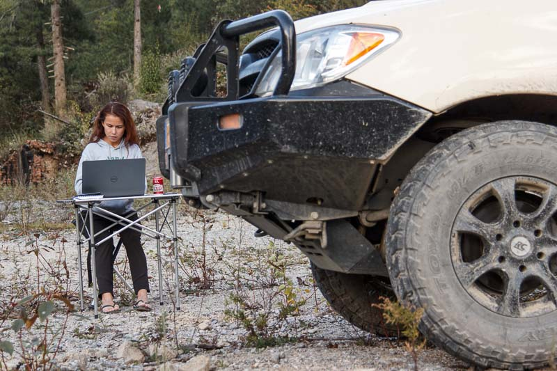 work online as an overlander