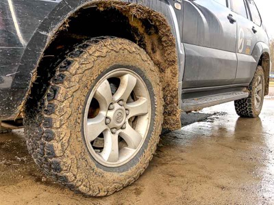 all terrain tires in mud