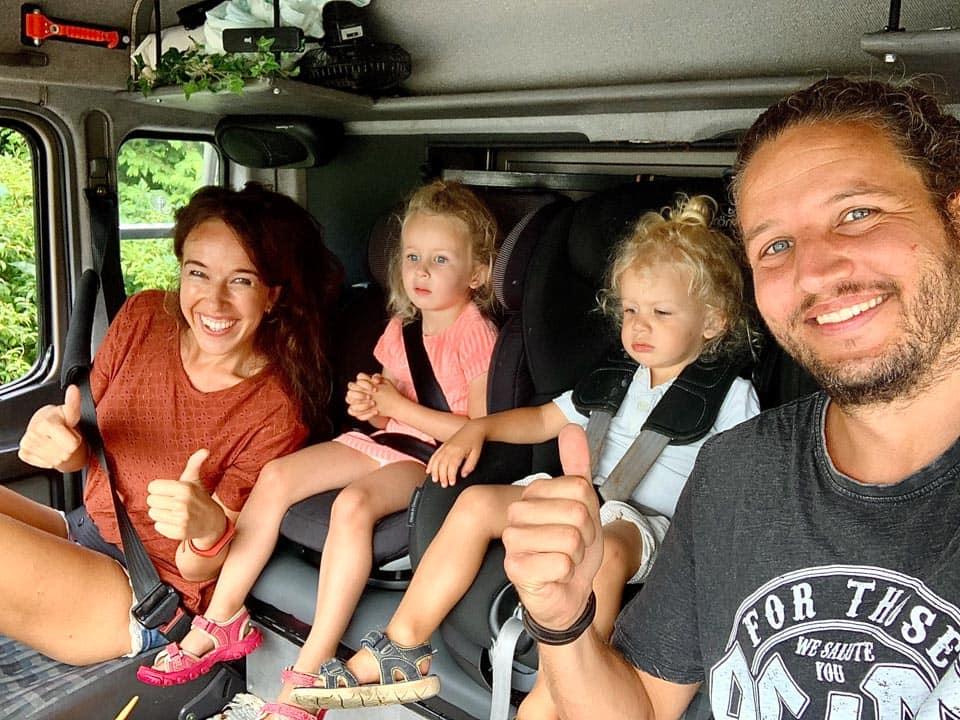 van der Burg family travelling around the world