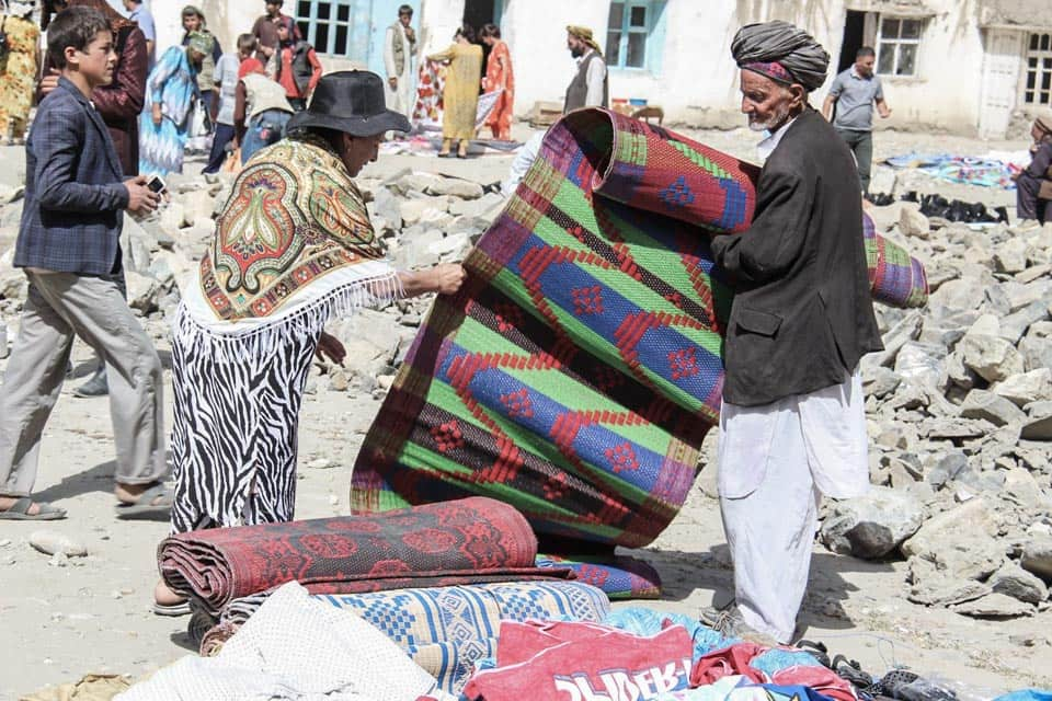 Afghan market Khorog Pamir Highway