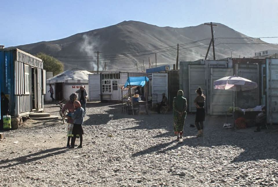 bazaar in Murghab on the Pamir Highway