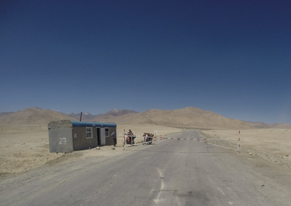 Pamir Highway checkpoint