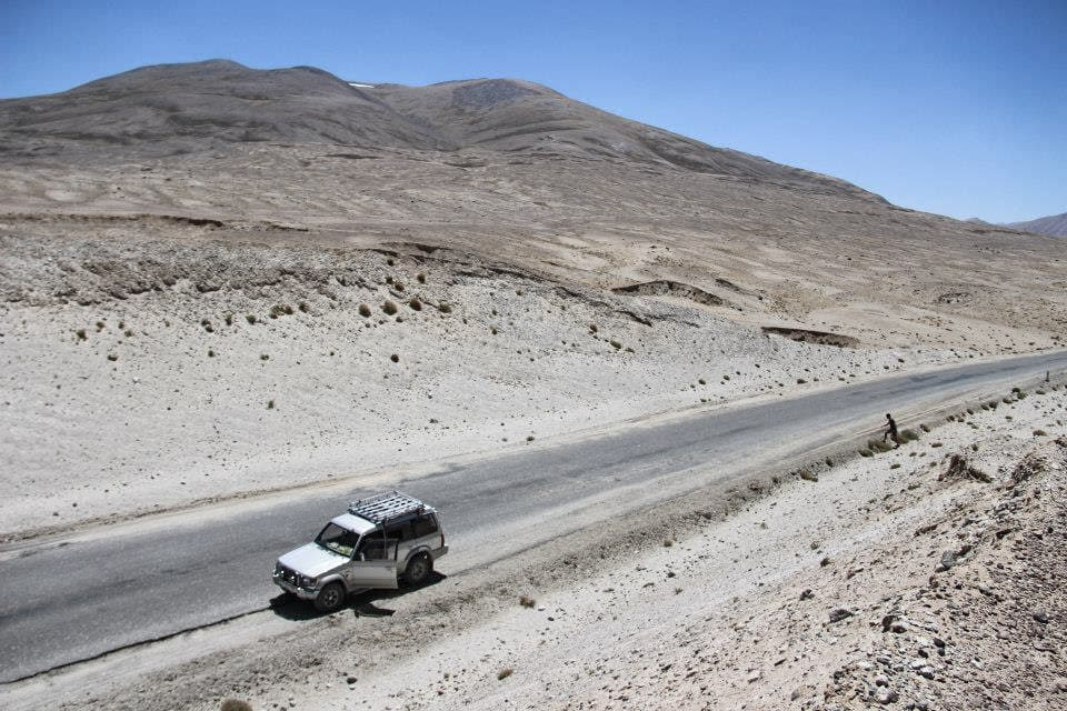 stop on Pamir Highway trip