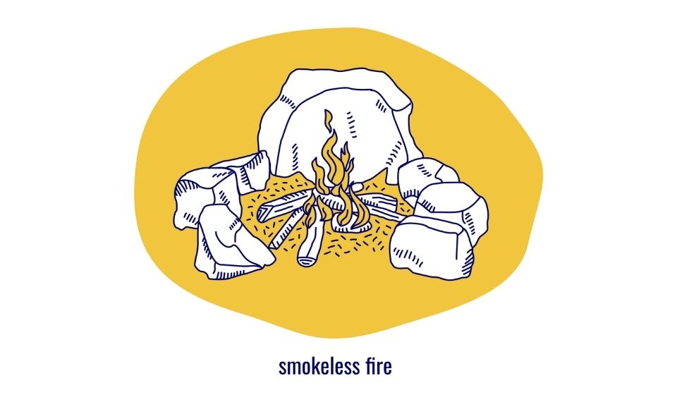 how to build a smokeless fire